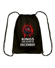 KINGS ARE BORN IN DECEMBER Drawstring Bag thumbnail