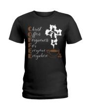 CHRIST COFFEE - WARRIOR OF CHRIST Ladies T-Shirt thumbnail