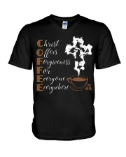 CHRIST COFFEE - WARRIOR OF CHRIST V-Neck T-Shirt thumbnail