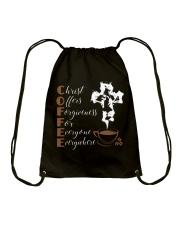 CHRIST COFFEE - WARRIOR OF CHRIST Drawstring Bag thumbnail