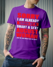 I AM ALREADY TAKEN BY A SMART SEXY AUGUST WOMAN Classic T-Shirt lifestyle-mens-crewneck-front-6