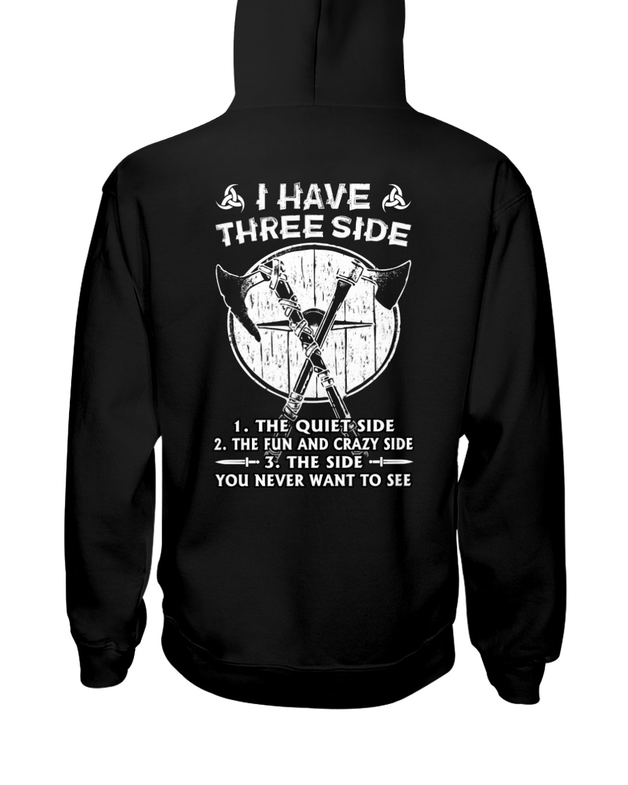 VIKINGS VALHALLA - THREE SIDE Hooded Sweatshirt