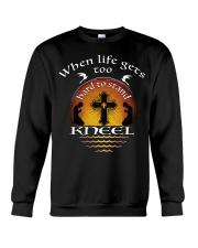 KNEEL - WARRIOR OF CHRIST Crewneck Sweatshirt thumbnail