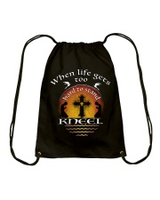 KNEEL - WARRIOR OF CHRIST Drawstring Bag thumbnail