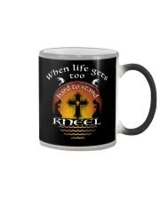 KNEEL - WARRIOR OF CHRIST Color Changing Mug thumbnail