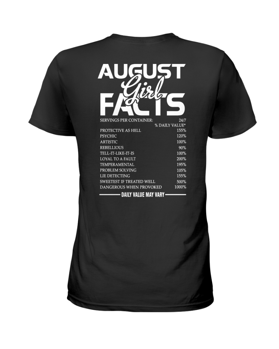 AUGUST GIRL FACTS Ladies T-Shirt