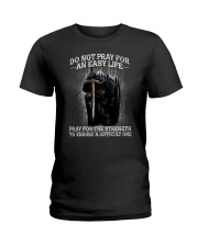 PRAY - WARRIOR OF CHRIST Ladies T-Shirt thumbnail