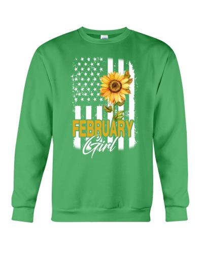 FEBRUARY GIRL FLAG