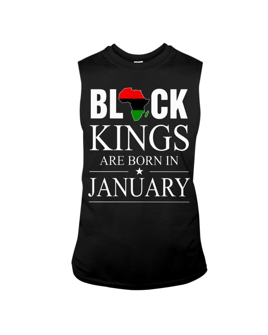 BLACK KINGS ARE BORN IN JANUARY Sleeveless Tee