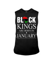 BLACK KINGS ARE BORN IN JANUARY Sleeveless Tee front