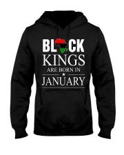BLACK KINGS ARE BORN IN JANUARY Hooded Sweatshirt thumbnail