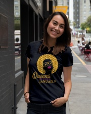 QUEENS ARE BORN IN JANUARY Ladies T-Shirt lifestyle-women-crewneck-front-5