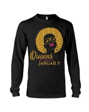 QUEENS ARE BORN IN JANUARY Long Sleeve Tee thumbnail