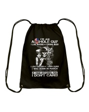 IM AN ASSHOLE MARCH GUY Drawstring Bag thumbnail