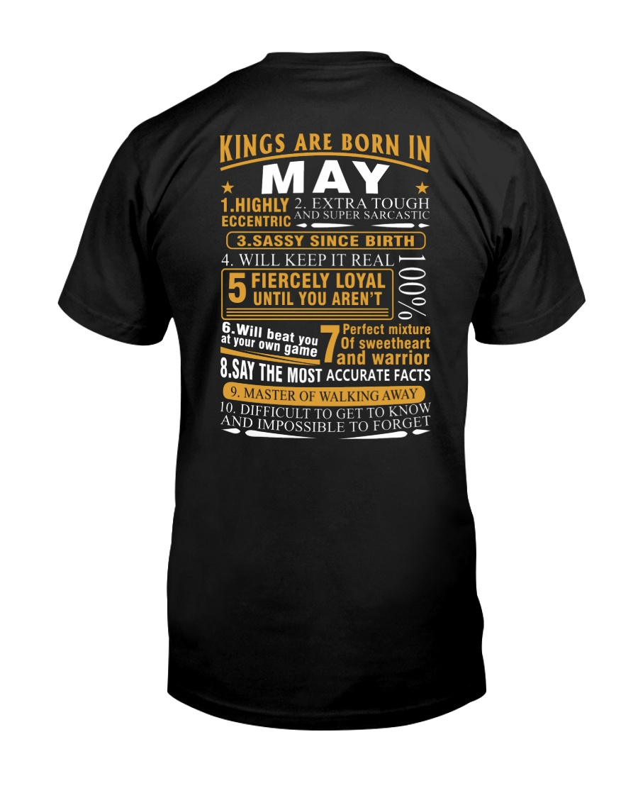 KINGS ARE BORN IN MAY Classic T-Shirt