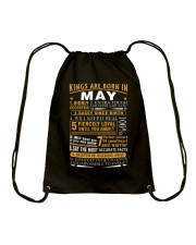 KINGS ARE BORN IN MAY Drawstring Bag tile