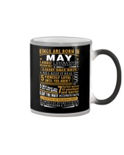 KINGS ARE BORN IN MAY Color Changing Mug tile