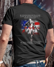 BE STRONG - WARRIOR OF CHRIST Classic T-Shirt lifestyle-mens-crewneck-back-2