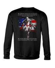 BE STRONG - WARRIOR OF CHRIST Crewneck Sweatshirt thumbnail