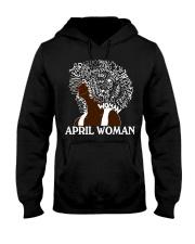APRIL BLACK WOMAN  Hooded Sweatshirt thumbnail