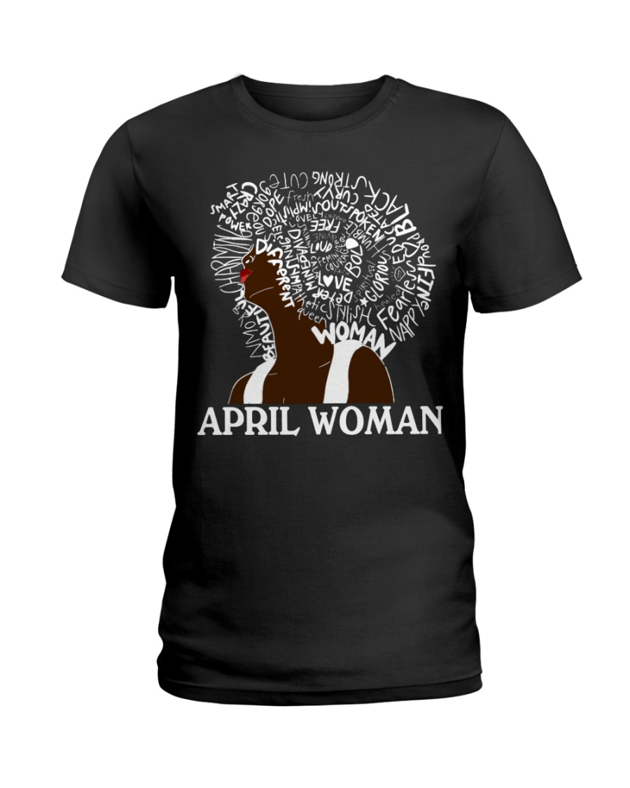 APRIL BLACK WOMAN  Ladies T-Shirt