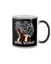 APRIL BLACK WOMAN  Color Changing Mug thumbnail