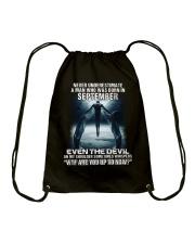 DEVIL WHISPERED - SEPTEMBER Drawstring Bag thumbnail