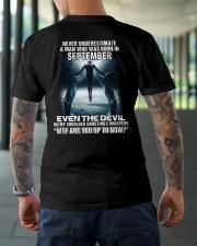 DEVIL WHISPERED - SEPTEMBER Classic T-Shirt lifestyle-mens-crewneck-back-3