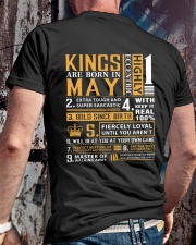 KINGS ARE BORN IN MAY Classic T-Shirt lifestyle-mens-crewneck-back-2