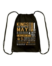 KINGS ARE BORN IN MAY Drawstring Bag thumbnail
