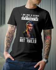 MY SCARS TELL A STORY - OCTOBER Classic T-Shirt lifestyle-mens-crewneck-front-6