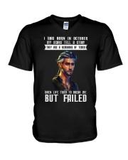 MY SCARS TELL A STORY - OCTOBER V-Neck T-Shirt thumbnail