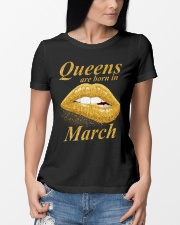 QUEENS ARE BORN IN MARCH Ladies T-Shirt lifestyle-women-crewneck-front-10