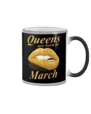 QUEENS ARE BORN IN MARCH Color Changing Mug thumbnail