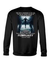 DEVIL WHISPERED - FEBRUARY Crewneck Sweatshirt back