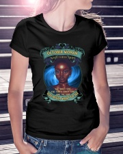 OCTOBER WOMAN WITH THREE SIDES Ladies T-Shirt lifestyle-women-crewneck-front-7