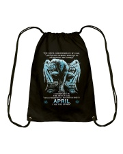 DEVIL WHISPERED - APRIL MAN Drawstring Bag thumbnail