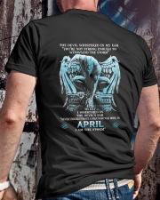 DEVIL WHISPERED - APRIL MAN Classic T-Shirt lifestyle-mens-crewneck-back-2