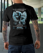 DEVIL WHISPERED - APRIL MAN Classic T-Shirt lifestyle-mens-crewneck-back-3
