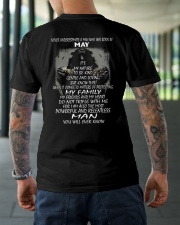 NEVER UNDERESTIMATE A MAN WHO WAS BORN IN MAY Classic T-Shirt lifestyle-mens-crewneck-back-3