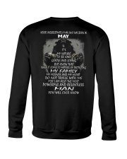 NEVER UNDERESTIMATE A MAN WHO WAS BORN IN MAY Crewneck Sweatshirt thumbnail