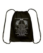 NEVER UNDERESTIMATE A MAN WHO WAS BORN IN MAY Drawstring Bag thumbnail