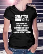 SMARTASS JUNE GIRL Ladies T-Shirt lifestyle-women-crewneck-front-7