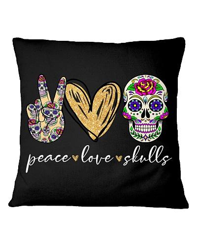 PEACE LOVE SKULLS - TATTOO