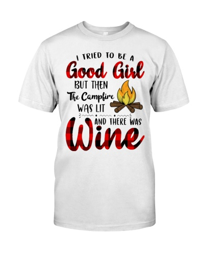 THE CAMPFIRE WAS LIT AND THERE WAS WINE - CAMPING
