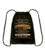 AUGUST GUYS AMAZING IN BED Drawstring Bag thumbnail