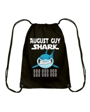 AUGUST GUY SHARK DOO DOO DOO Drawstring Bag tile