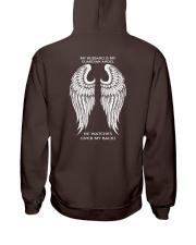 MY HUSBAND IS MY GUARDIAN ANGEL Hooded Sweatshirt back