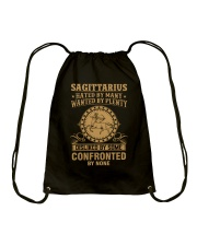 SAGITTARIUS - HATED BY MANY Drawstring Bag thumbnail