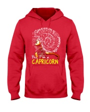 YES I AM A CAPRICORN Hooded Sweatshirt front